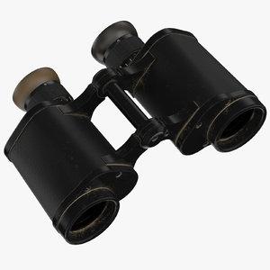 vintage binoculars 3D model