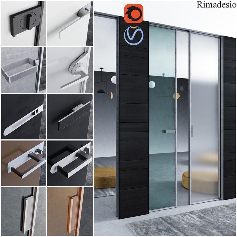 rimadesio doors - office 3D model