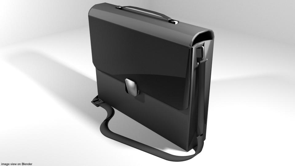3D model briefcase case folder