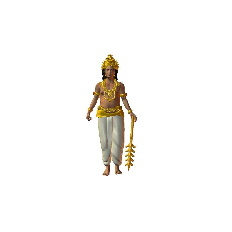 devendran indian god 3D model