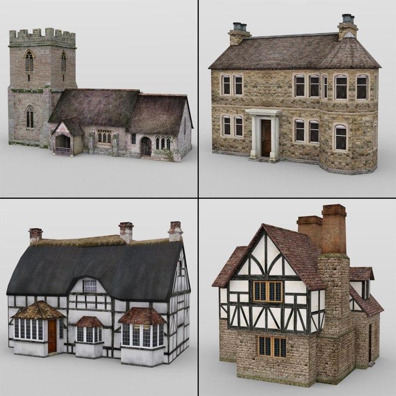 Low Poly Buildings (for DAZ Studio)