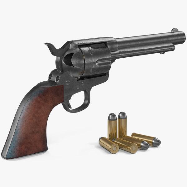 3D colt 1873 single action model