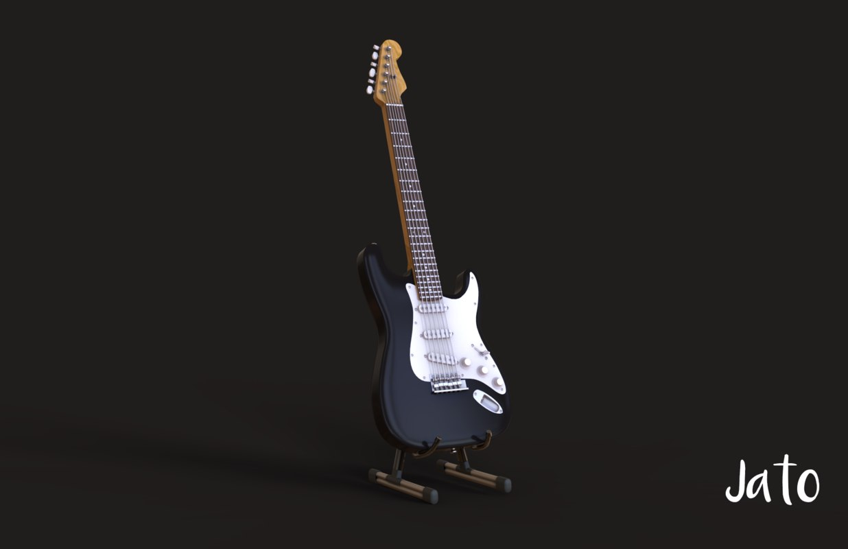 3D model guitar modeled