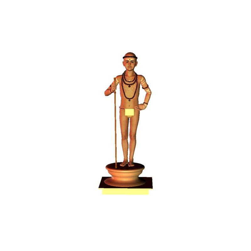 3D murugar indian model