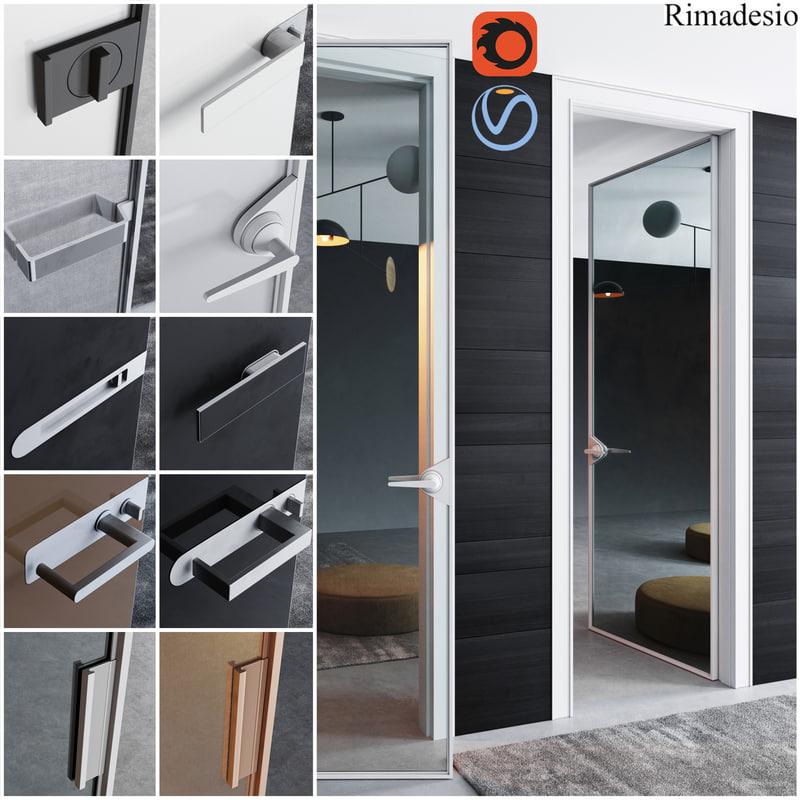 3D rimadesio doors - office model