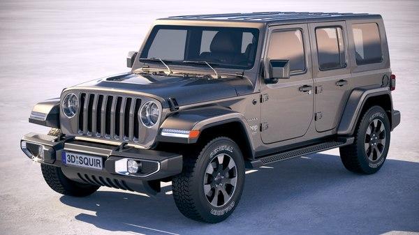 3D jeep wrangler sahara
