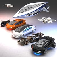 futuristic hd future transport 3D