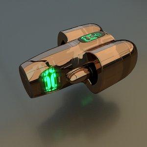 3D spaceship drive model
