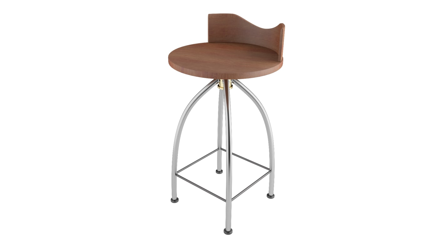 3D bar stool wood chair