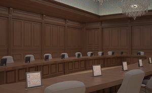 3D model delegation hall