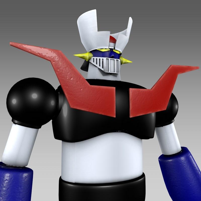 classic mazinger z 3D model
