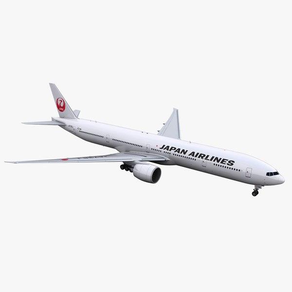 777-300 jal 3D