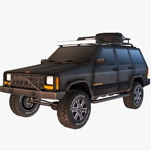 3D jeep cherokee model