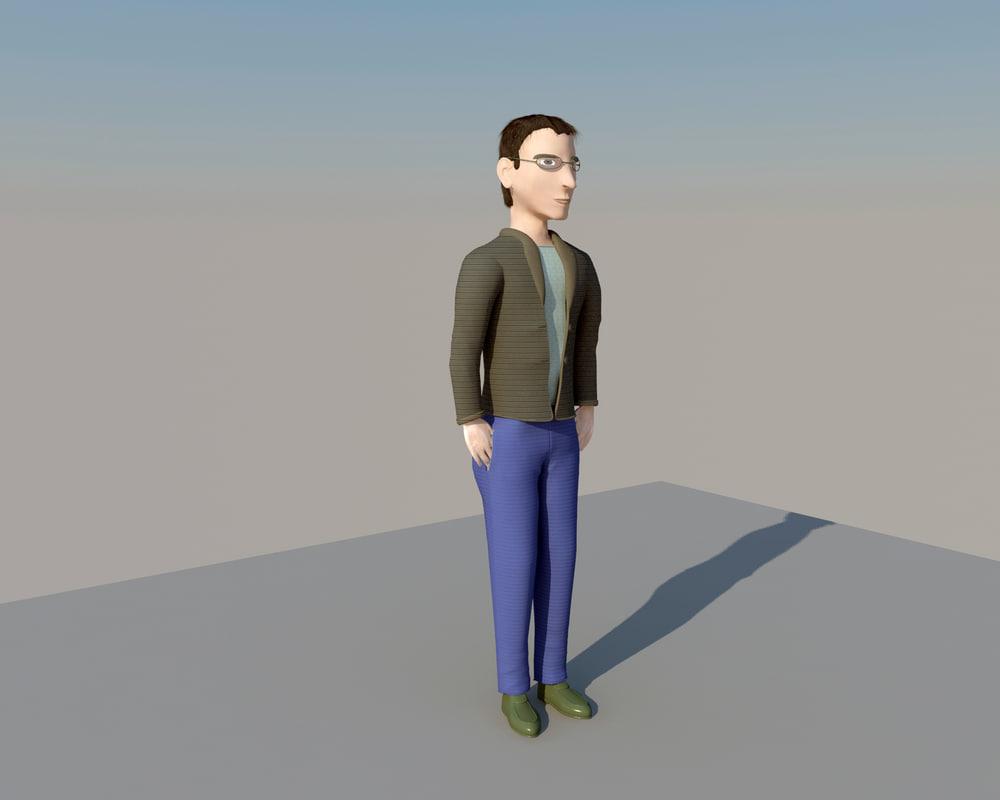 3D man glasses