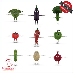 vegetable character 3D