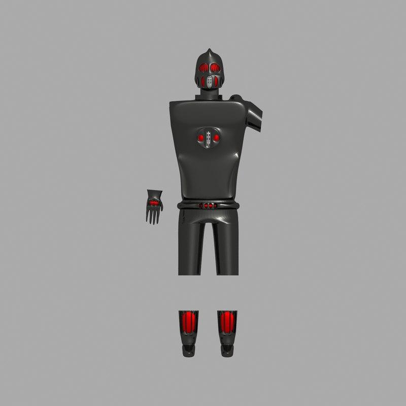 3D black armor