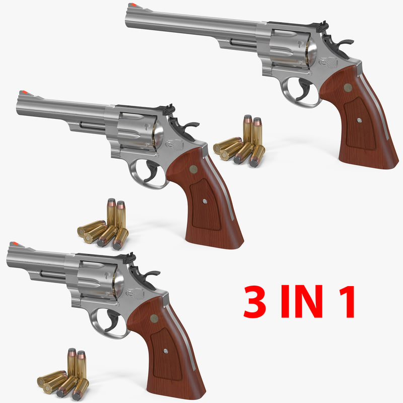 3D smith wesson 29 2 model