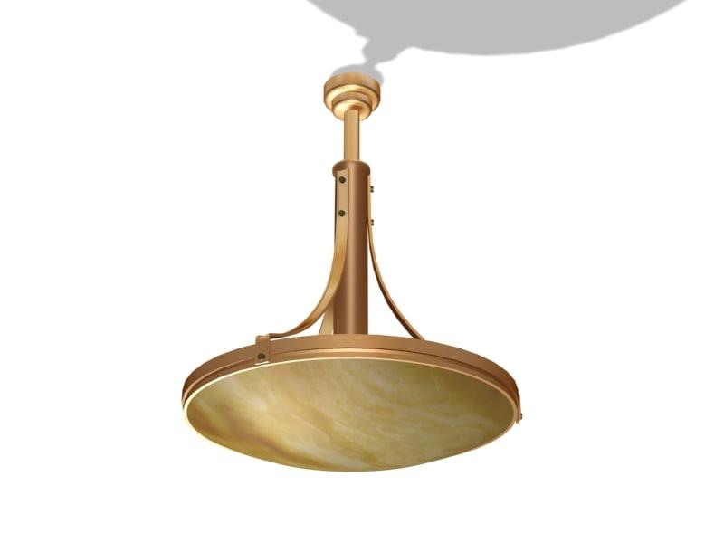 3D art deco hanglamp model