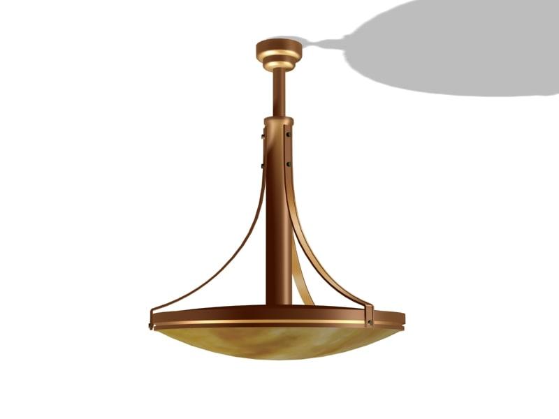 Art Deco Hanglamp : 3d art deco hanglamp model turbosquid 1257468