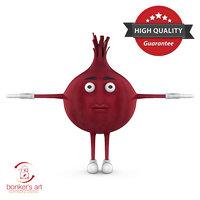 vegetable character 3D model