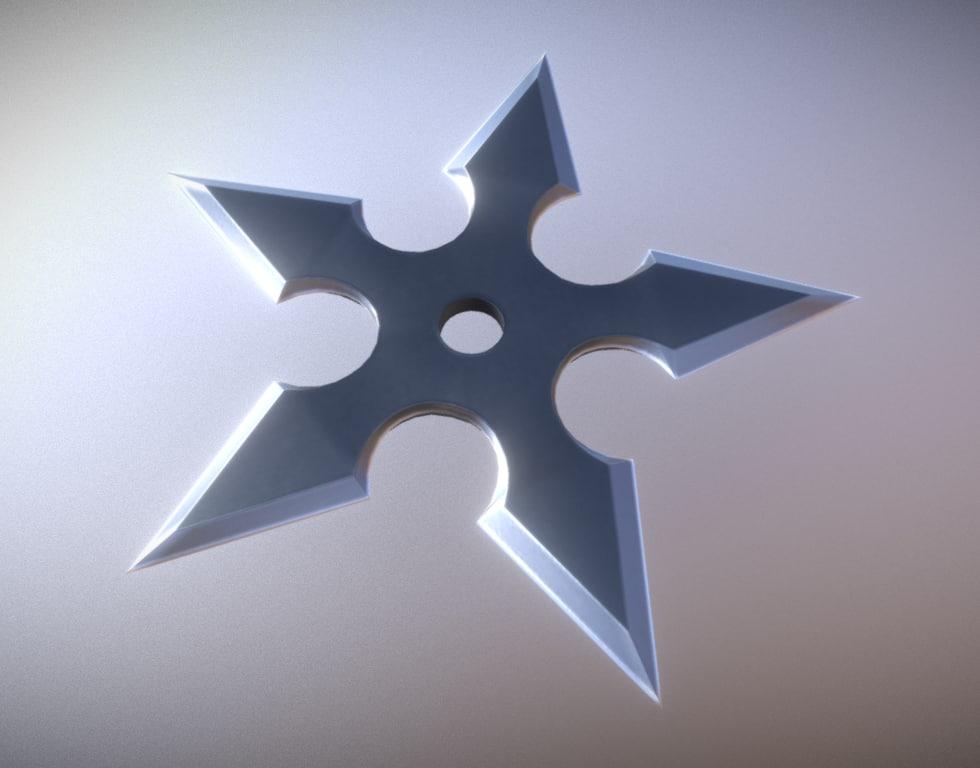 3D shuriken star