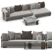minotti florida sofa set model