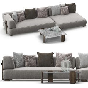 minotti florida sofa set model