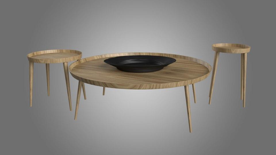 casa coffee table 3D model