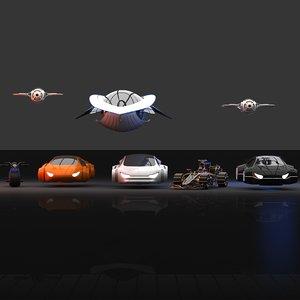futuristic hd future transport 3D