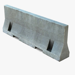 barrier concrete road model