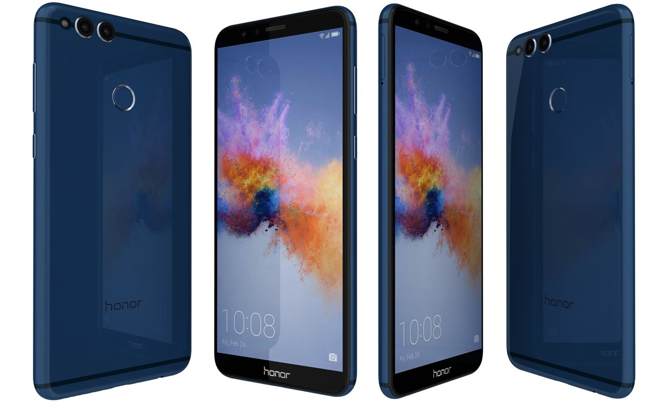 3D huawei honor 7x blue model