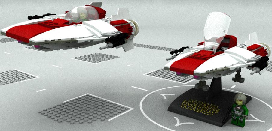 3D model lego class fighter