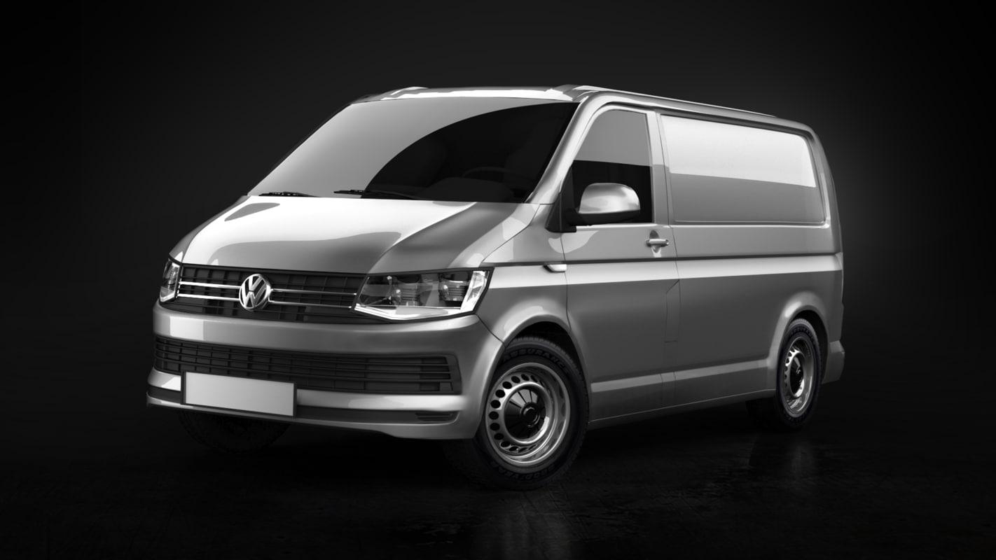 3D exterior volkswagen transporter t6 model