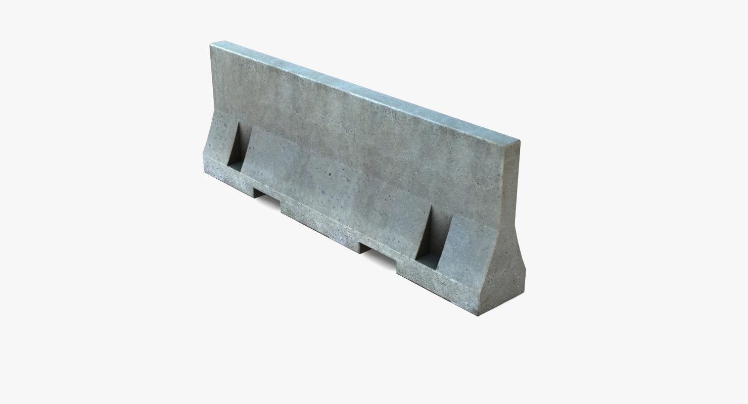 barrier concrete road model
