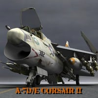 aircraft corsair ii e 3D model
