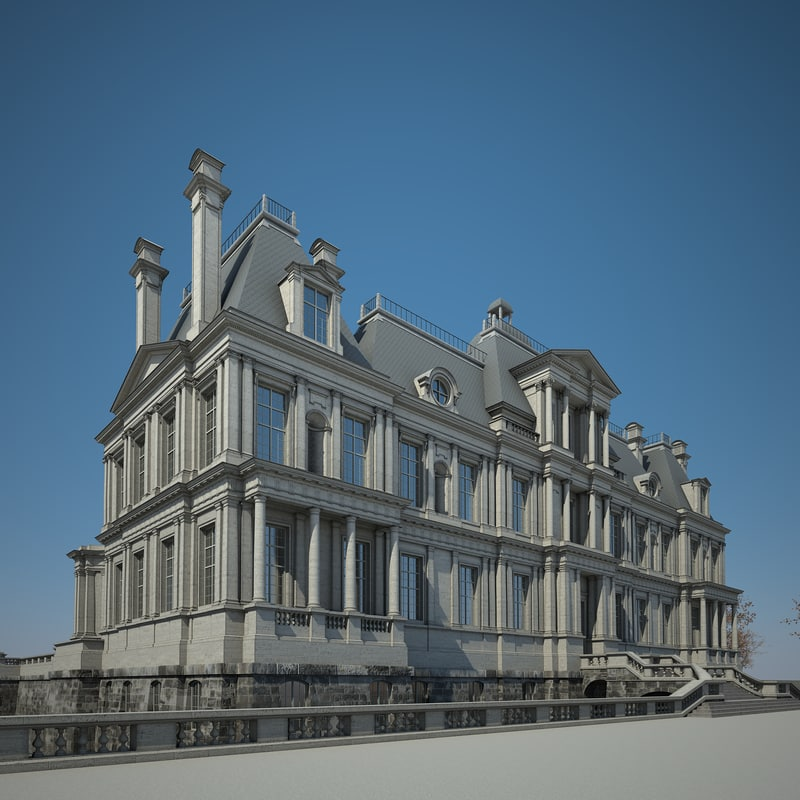 3d house chateau