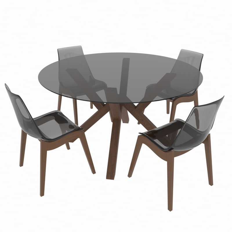 3D dining set table calligaris model