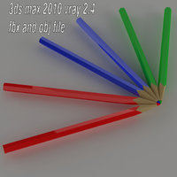 3D colored pencil model