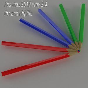 3D colored pencil model