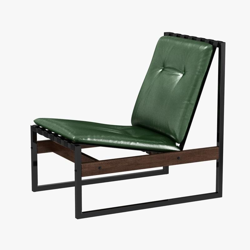 chair jacaranda iron green 3D model
