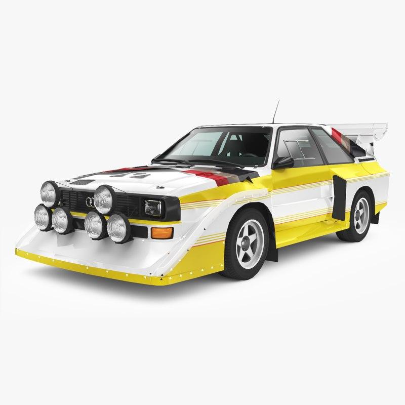 Audi Sport Quattro S1 3d Model Turbosquid 1257641