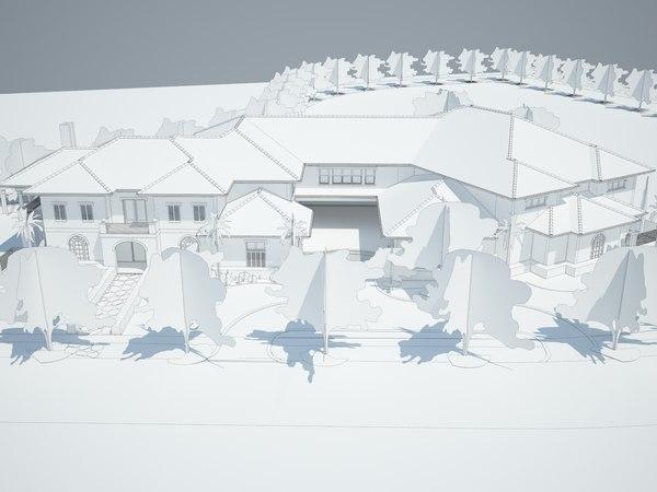 3D mansion texas model
