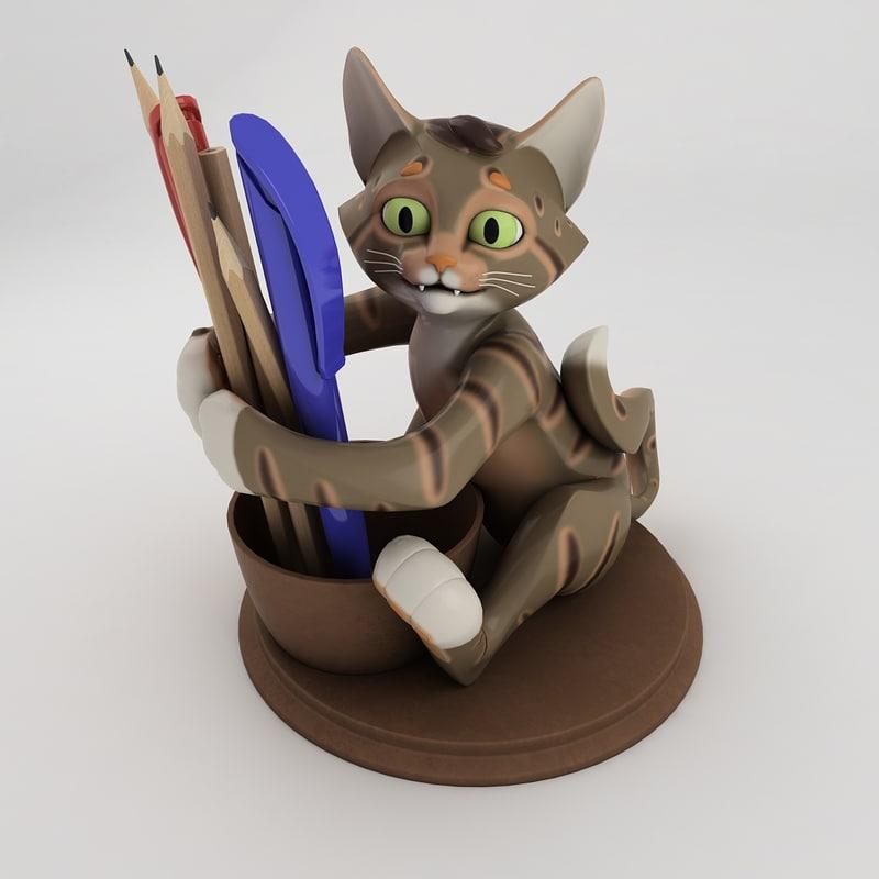 3D stand pens pencils