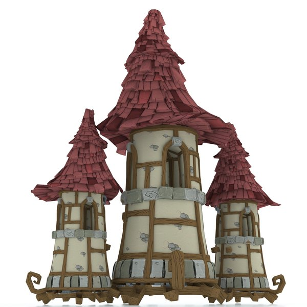 3D model cartoon castle