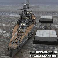 3D nevada bb-36 poser model