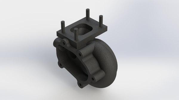 garrett gt2860r turbocharger exhaust 3D model