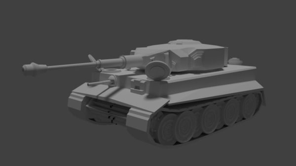 german ii tiger tank 3D model
