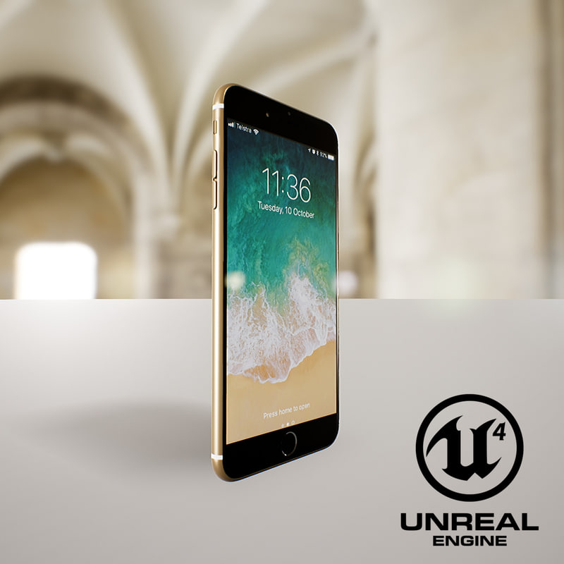 iphone7 gold 3D model