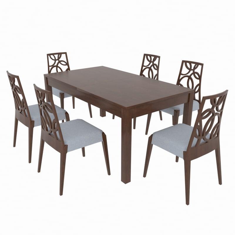 3D dining set table giuliacasa