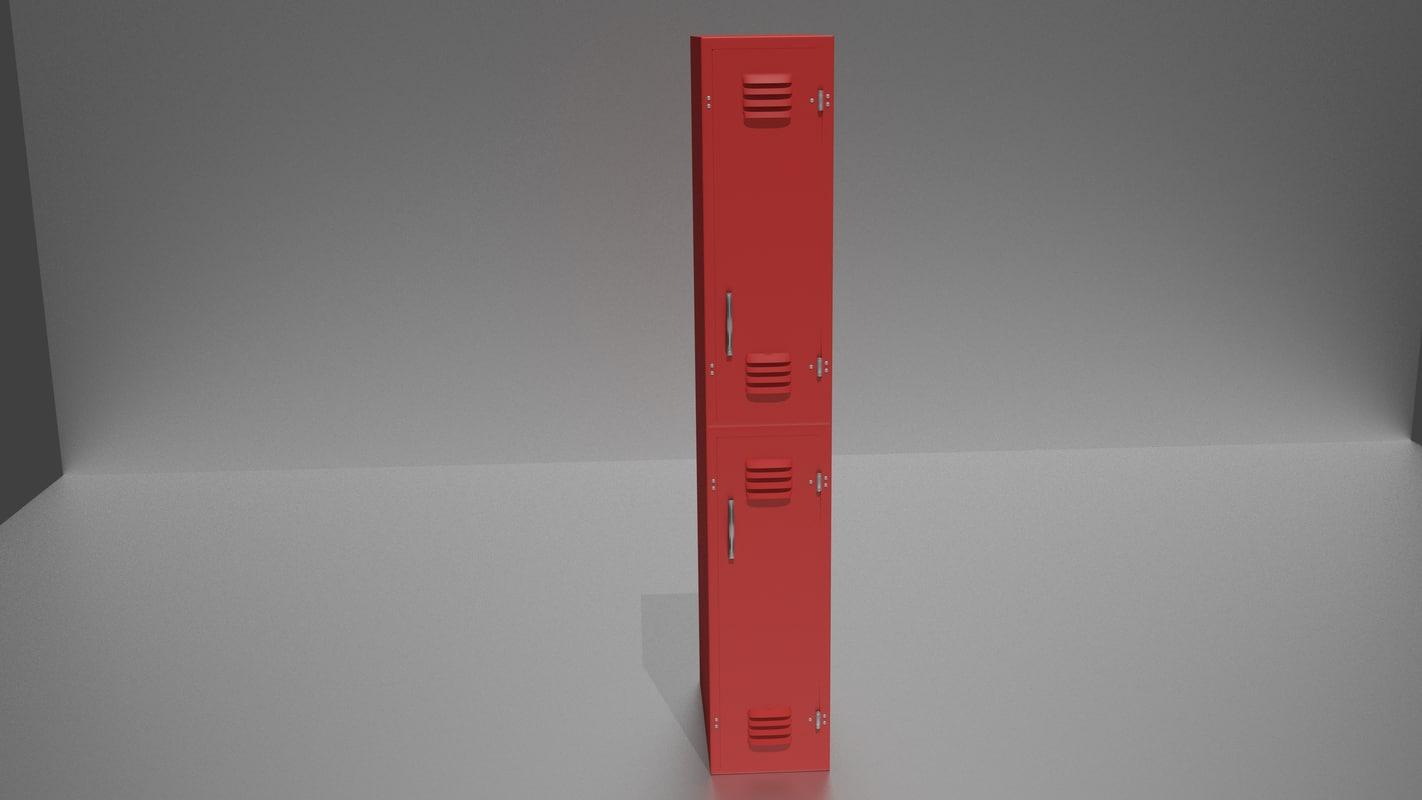 red lockers 3D model